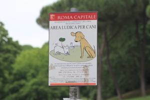 Rome dog park sign
