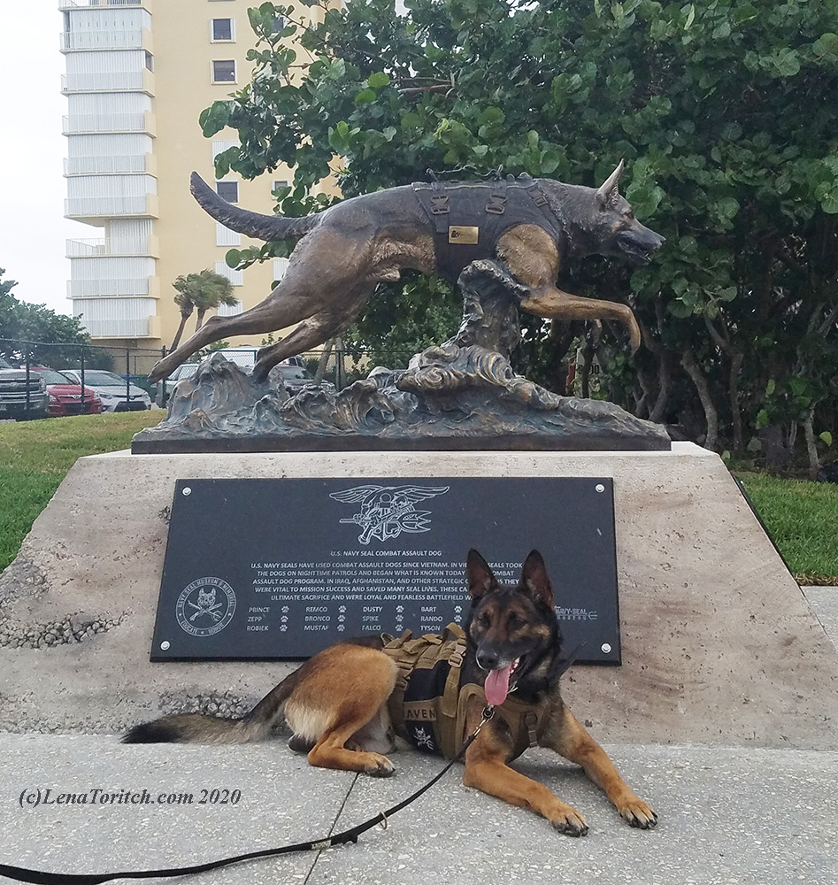Navy SEAL K9 statue by Lena Toritch