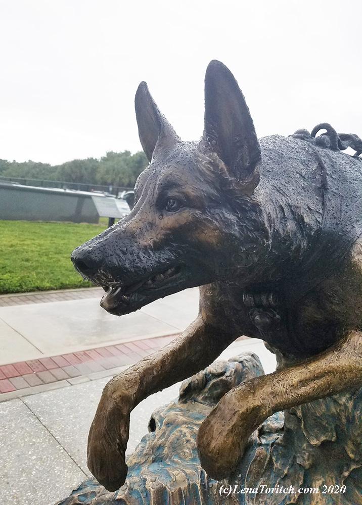 Navy SEAL K9 bronze by Lena Toritch